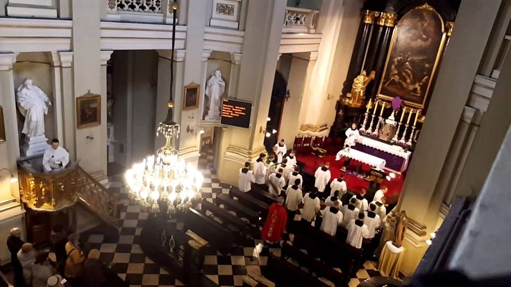#PalmSunday. Procession with Palms and Eucharist in #Vincentian Seminary Church of Conversion of St. Paul, Krakow, Poland. #VincentianLent