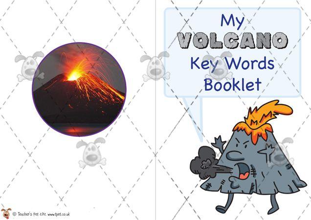 Teacher's Pet - My Volcano Word Book - Premium Printable Game / Activity - EYFS, KS1, KS2, glossary, dictionary, volcanoes, natural disaster...