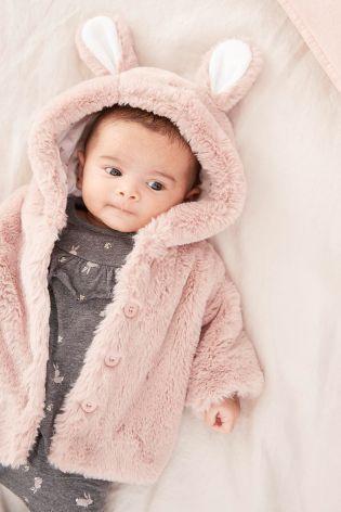 ab21460618c8 Pink Faux Fur Jacket (0mths-2yrs)
