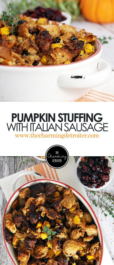 Roasted Pumpkin Stuffing with Italian Sausage | Recipe | Stuffing ...