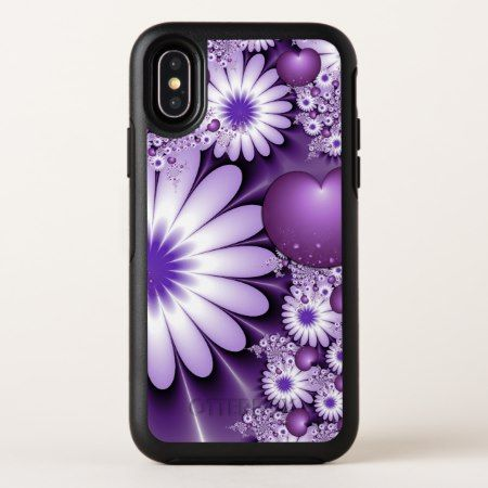 Falling in Love Abstract Flowers & Hearts Fractal OtterBox Symmetry iPhone X Case - click to get yours right now!