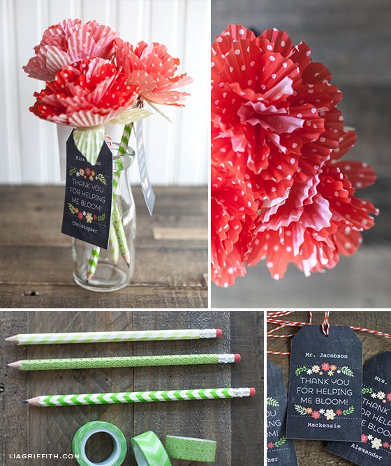 Make Some Paper Blooms to Top Washi Covered Pencils By Lia Griffith
