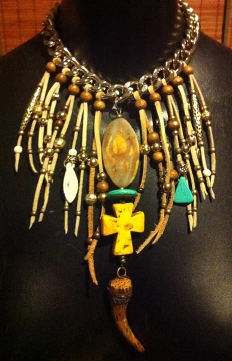 Handmade bohemian necklace