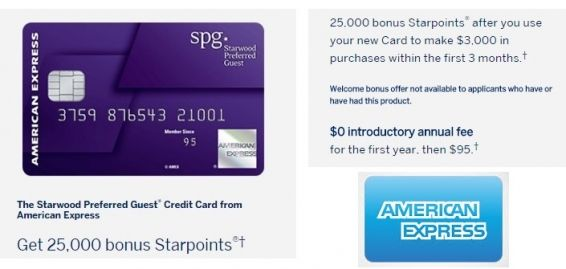25,000 bonus Starpoints with the Starwood Preferred Guest® Credit Card from American Express - http://www.mightytravels.com/2016/05/25000-bonus-starpoints-with-the-starwood-preferred-guest-credit-card-from-american-express/
