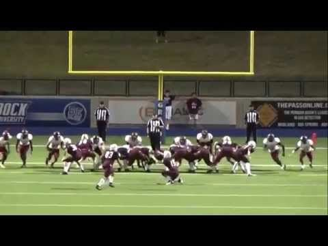 High school football kicker drills referee in the head and still gets the ball through the uprights. - Real Funny