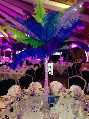 Ostrich Feather Centrepiece Hire Surrey : Ostrich Feather Centrepiece Hire Surrey