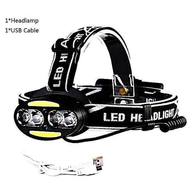 30000 Lumens Led Headlight Headlamp Convex Lens Hiking Headlamp Headlight Micro Usb Cable Charging Telescopic Zoom Headlamp Headlights Led Headlights