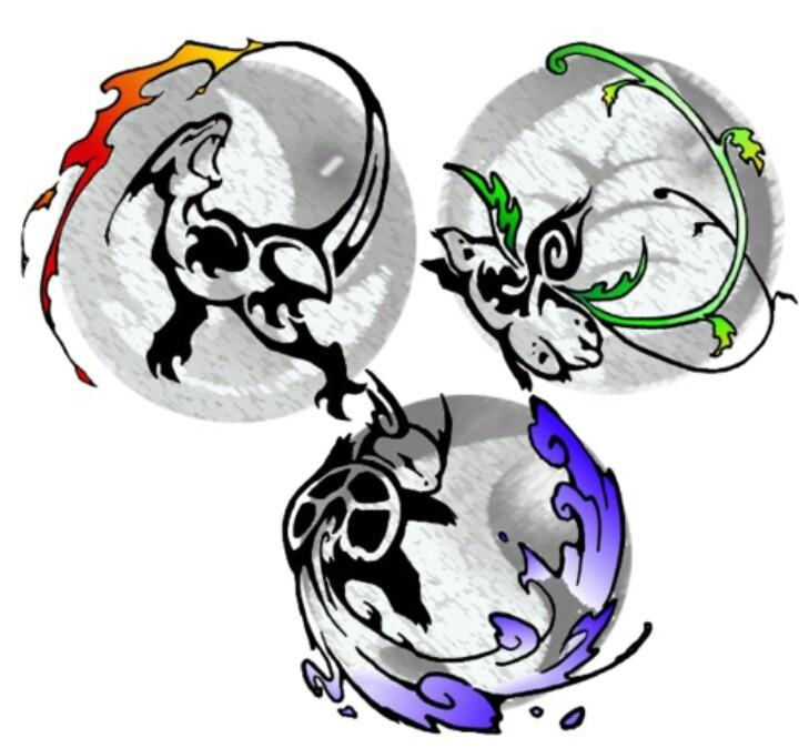 pokemon pokeball tribal tattoo