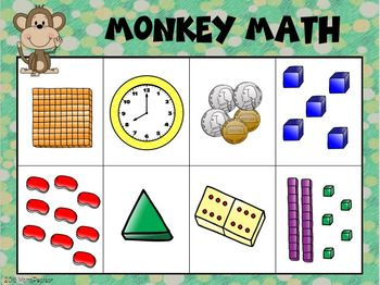 Monkey Math Bingo This will be a great review bingo for back to school!