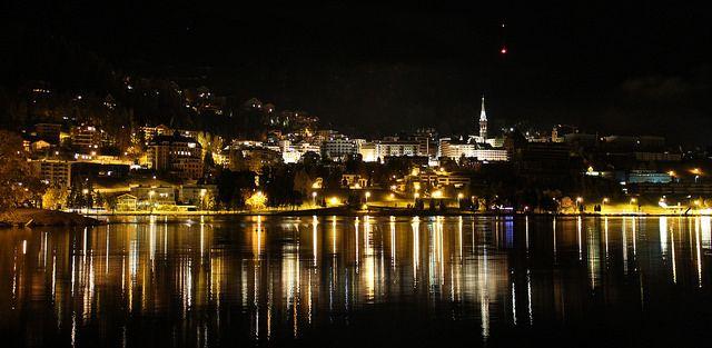 Saint Moritz, Switzerland at night