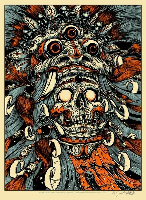 "Bali Mask and Skull"" Art Print by Jeral Tidwell"