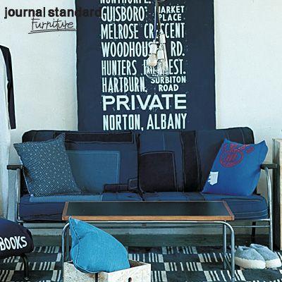 journal standard Furniture (ジャーナルスタンダードファニチャー)   LAVAL Sofa DENIM PACH (ラバルソファ デニムパッチ)