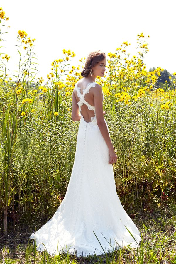 These gorgeous wedding gowns are even more fabulous from the back