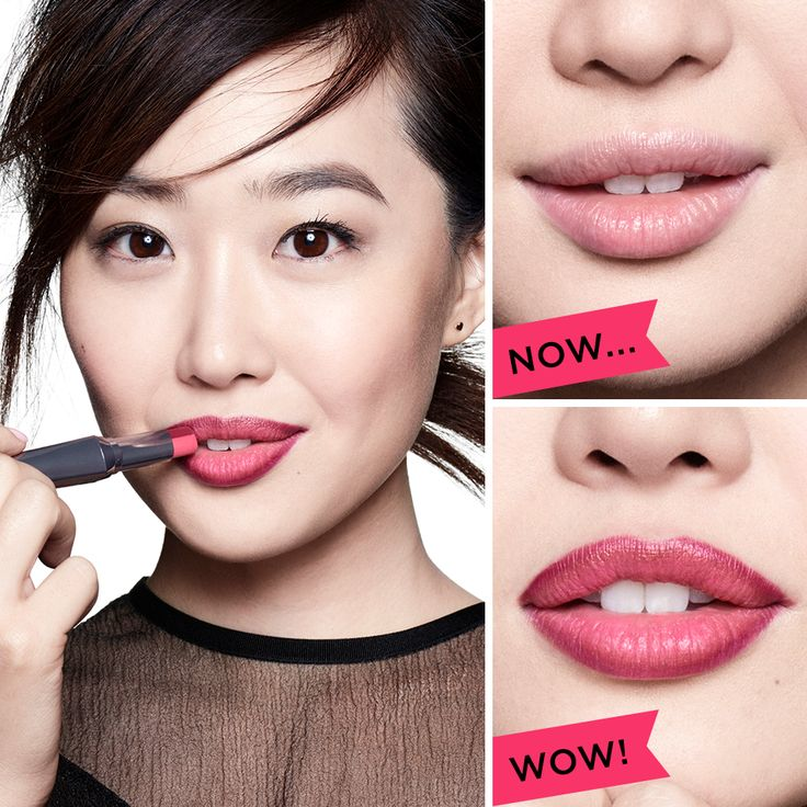 From real...to REAL SEXY. Get visibly fuller lips instantly with NEW they're real! double the lip. This lipstick & liner defines the lip line & fills with complementing colour for a luscious, kissable pout. Ruby is wearing pink thrills!