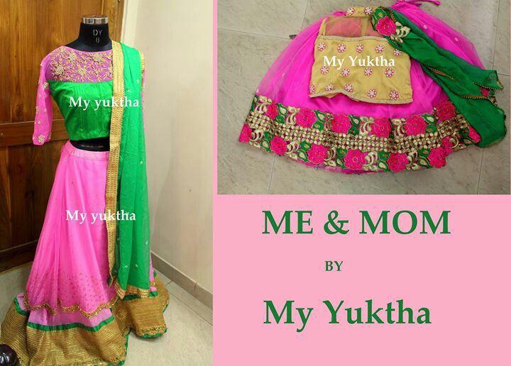 Mother Daughter matching lehanga