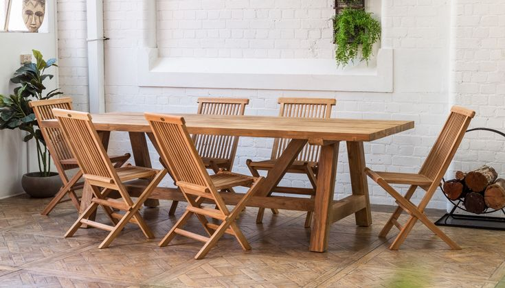 Navan 250cm Recycled Teak Dining Table In Natural Finish Also Available In 300cm Featuring Epsom Tea Teak Dining Table Recycled Wood Furniture Dining Table