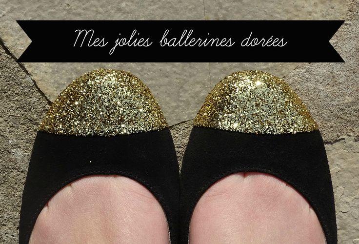 DIY ballerines dorées