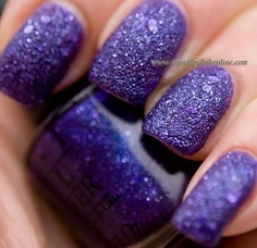 I love the look of the glitter being so bumpy!