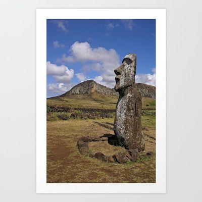 Moai Art Print by Marcela Ponce - $18.72 Isla de Pascua