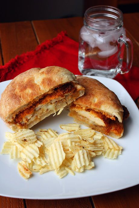 Homemade Chicken Parmesan Sandwiches. Sounds absolutely delicious!