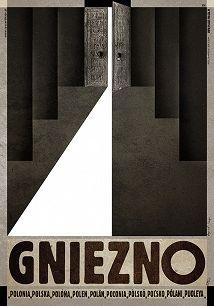 Gniezno, plakat z serii Polska, Ryszard Kaja