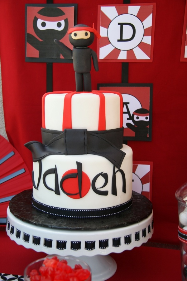 Hardest Ninja Cake of the 3. The little man is what would be hardest.
