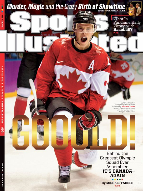 Jonathan Toews on the cover of Sports Illustrated (captainmegasaurusrex / Tumblr)