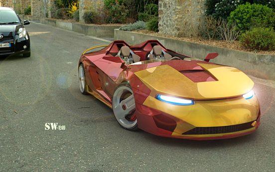 Iron Man Sports Car. #Avengers