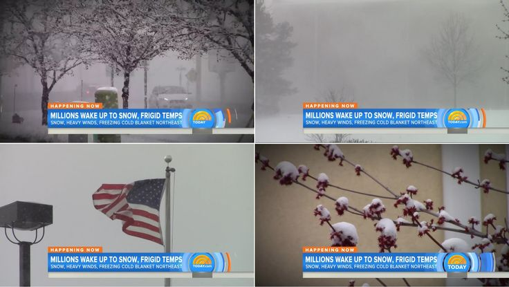 Grand Rapids, MI Snow - TODAY Show - 4/4/16