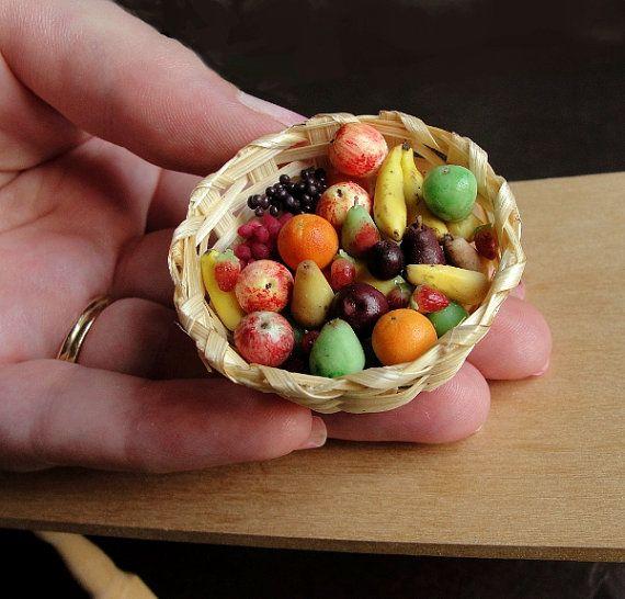 Dollhouse Miniature Food Fruit Basket