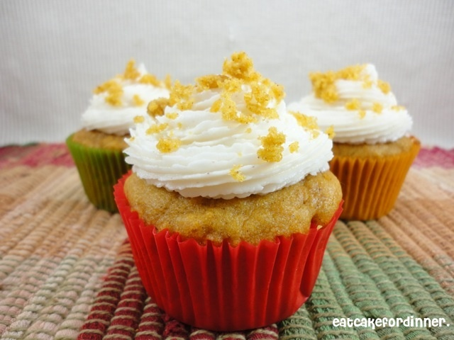 Eat Cake For Dinner: Paula Deen's Pumpkin Cake with Cinnamon Buttercream
