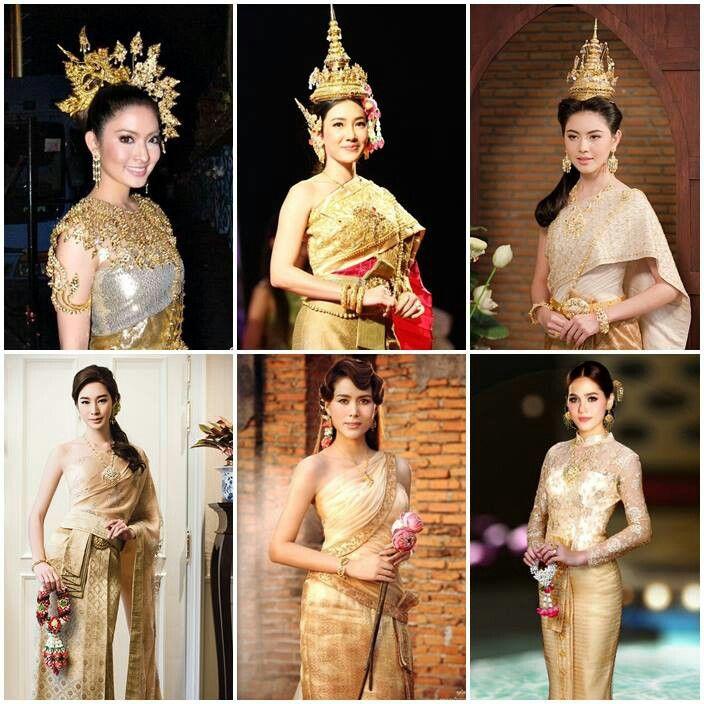 Thai national dresses. | Thai women | Thai Culture