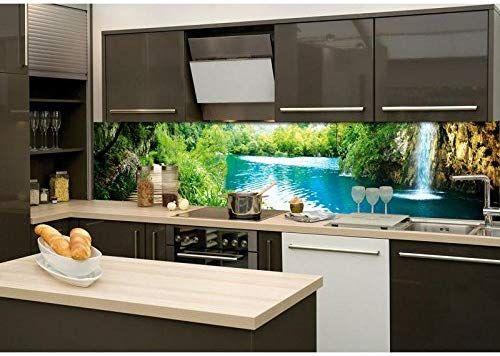 Küchenrückwand Folie selbstklebend ENTSPANNUNG IM WALD 260 x 60 cm ...