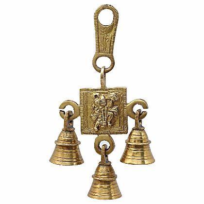 UTSAV KRAFT Brass Lord Hanuman Hanging Bells