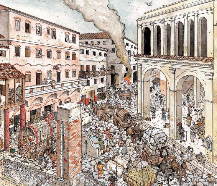 57 Best Illustrations Of Roman Activities Street Scenes