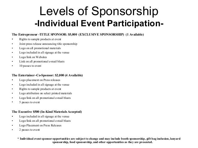 Image result for music event sponsorship proposal tana b great - example of sponsorship proposal