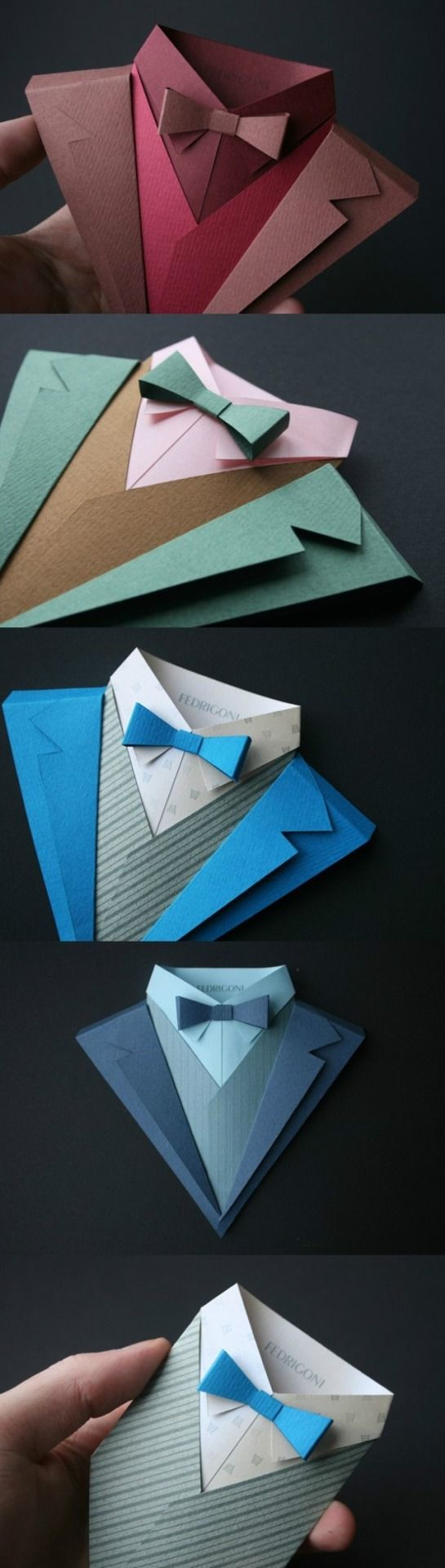 folded paper mens suits