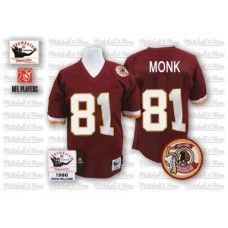Mitchell and Ness Washington Redskins #81 Art Monk Red Throwback NFL Jersey $109.99
