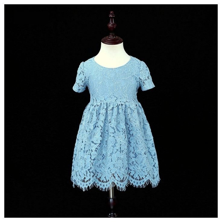 Brand Children clothing family matching outfits infant girls blue lace dress mother and daughter matching dresses mom baby dress