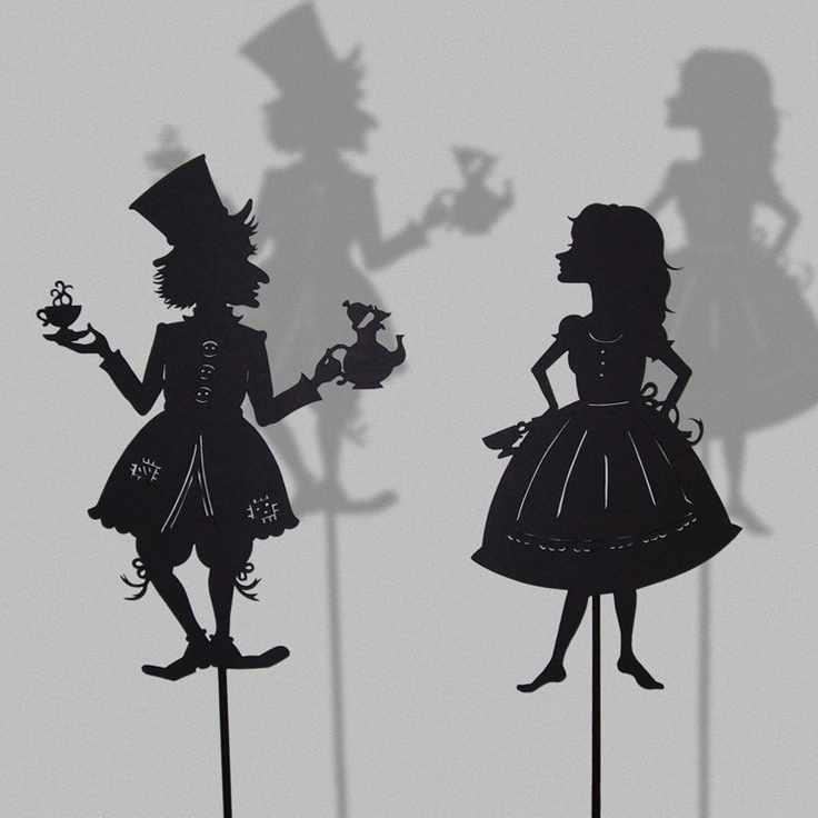 Items similar to Alice and the Madhatter/ Laser cut Shadow Puppets on Etsy. , via Etsy.