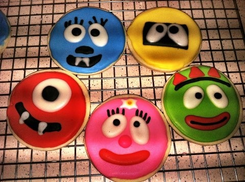 Custom #YoGabbaGabba cookie order for my son made by my Sister in law-- so cute! Order yours today!