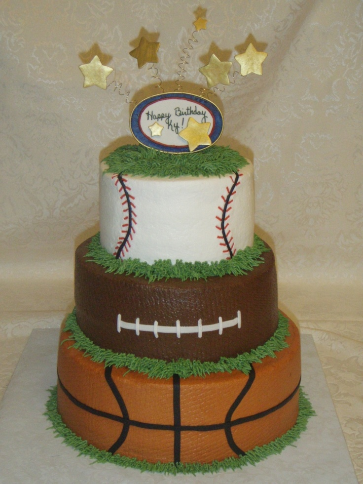 sport themed cake -- perrrfect for a boy!!!!