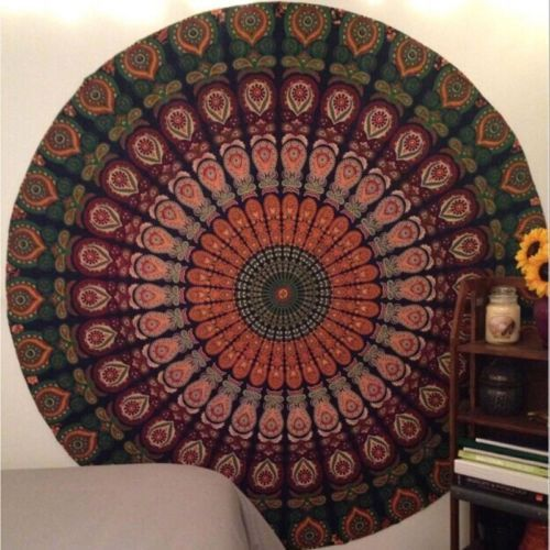 New Summer Indian Round Tapestry Wall Hanging Bath Beach Towel Decor Serviette De Plage