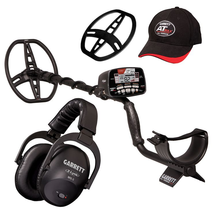 Garrett AT Max All Terrain Metal Detector w/ Built-in Z-Lynk Technology & MS-3 Headphones