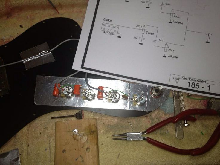 wiring a hofner 185 the bass guitar doctor pinterest. Black Bedroom Furniture Sets. Home Design Ideas