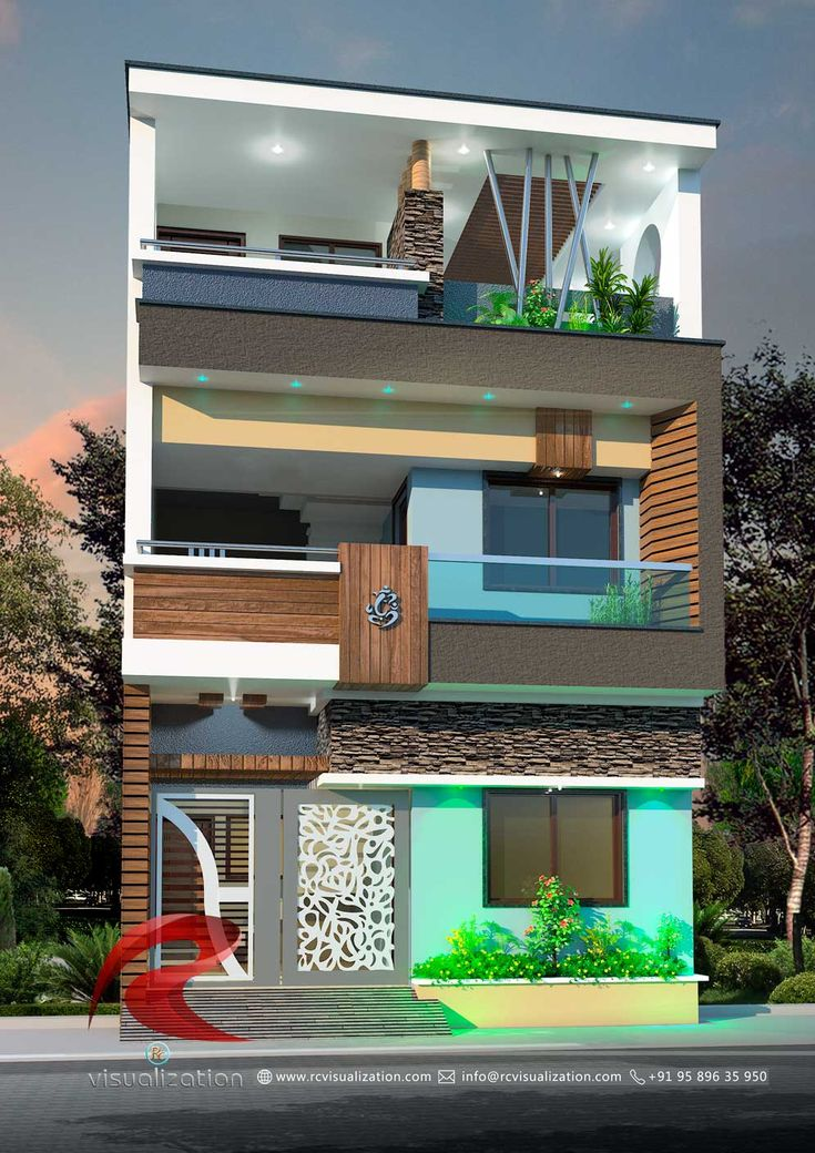 3D Narrow House Designs Gallery