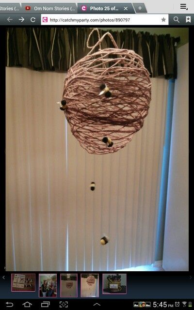 Omg how cool! --hunger games party decorations  | Hunger Games Tracker Jacker Nest party ... | Hunger Games Birthday