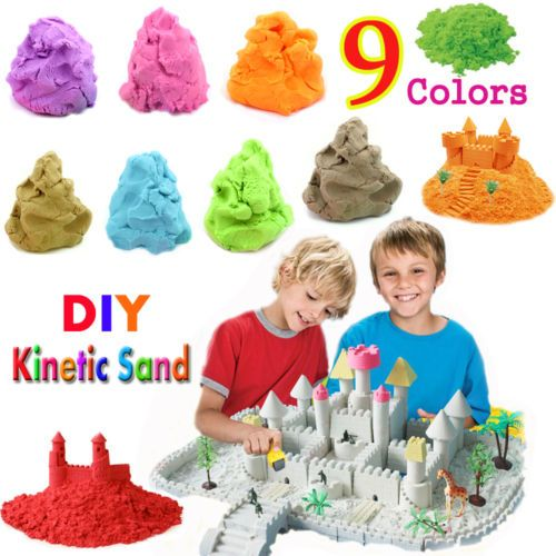 Kinetic-Sand-Motion-Sand-Magic-Sand-Funny-Play-for-Kids-Crafts-9-Colors-NEW