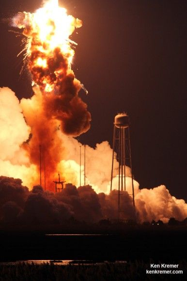 Catastrophic Failure Dooms Antares Launch to Space Station – Gallery