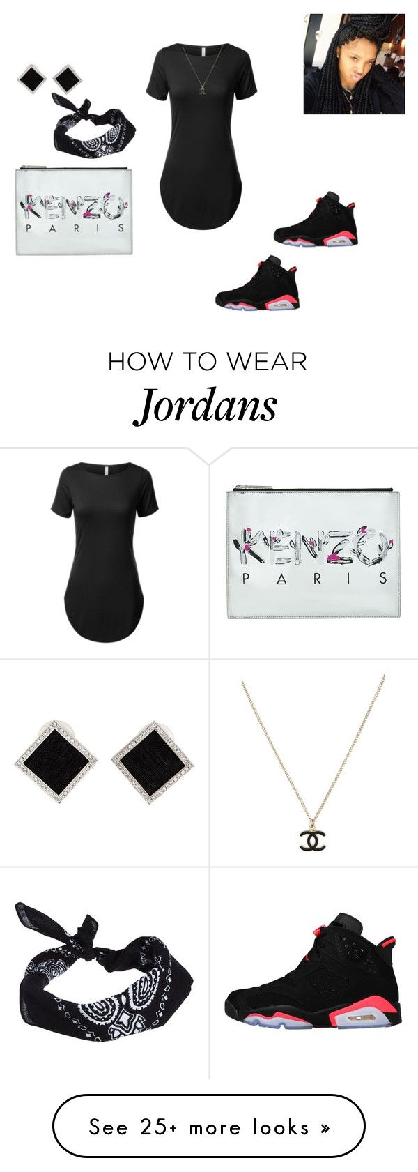 """""""Untitled #1003"""" by tandrilchisholm on Polyvore featuring Kenzo, ASOS, NIKE, Yvel and Chanel"""
